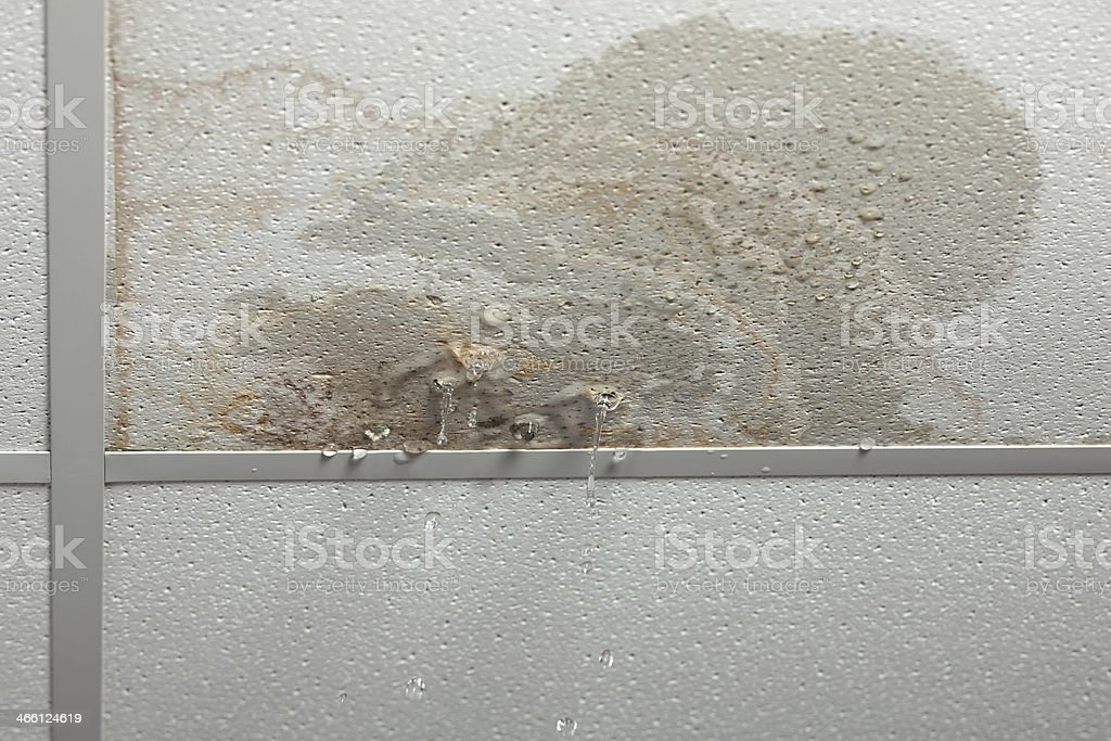 Leaking ceiling stock photo