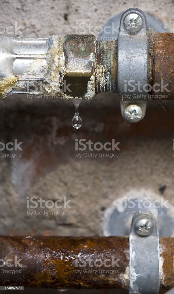 Leaking pipe royalty-free stock photo