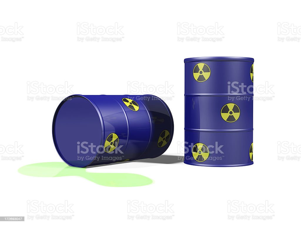 Leaking Radioactive Waste royalty-free stock photo