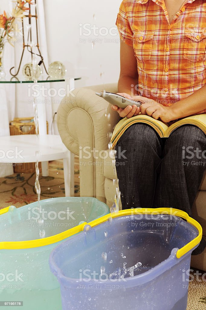 Leaking Roof royalty-free stock photo