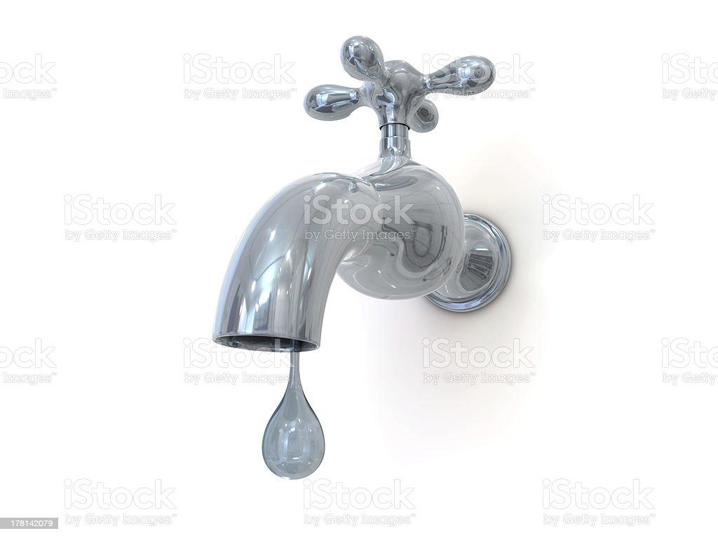 leaking water tap royalty-free stock photo