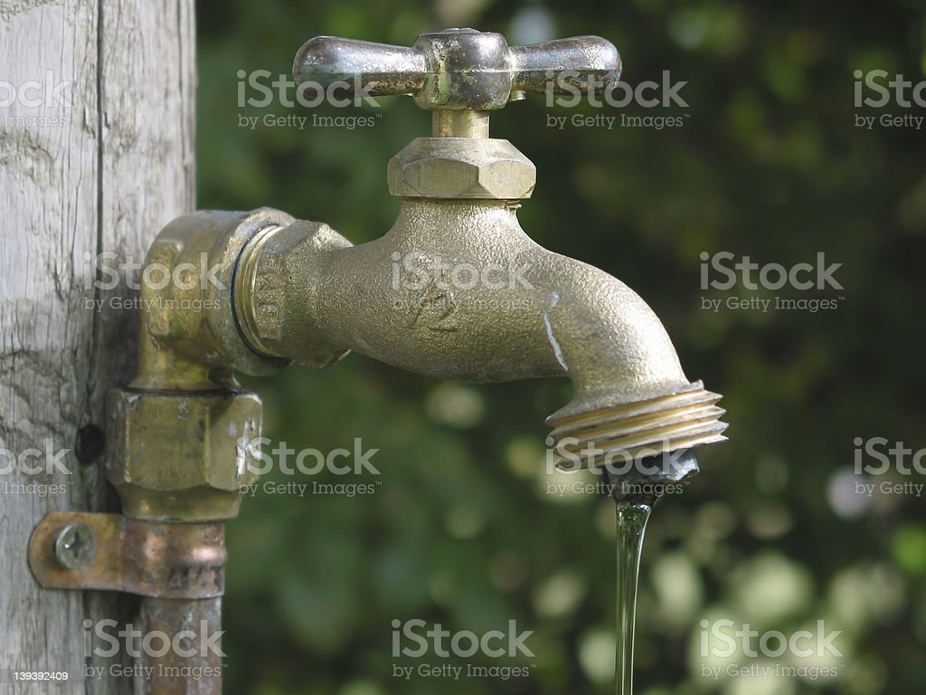 Leaky Faucet royalty-free stock photo
