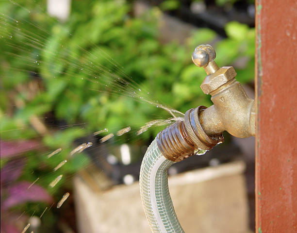 leaky faucet - garden hose stock pictures, royalty-free photos & images