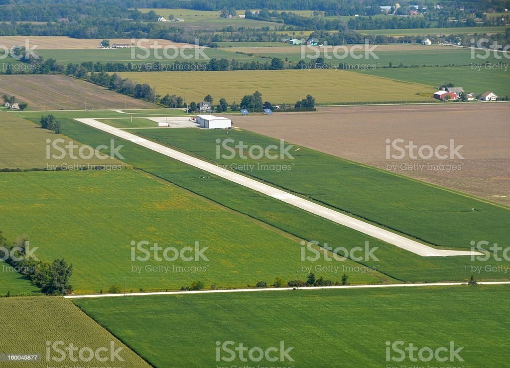 Leamington Airport aerial stock photo