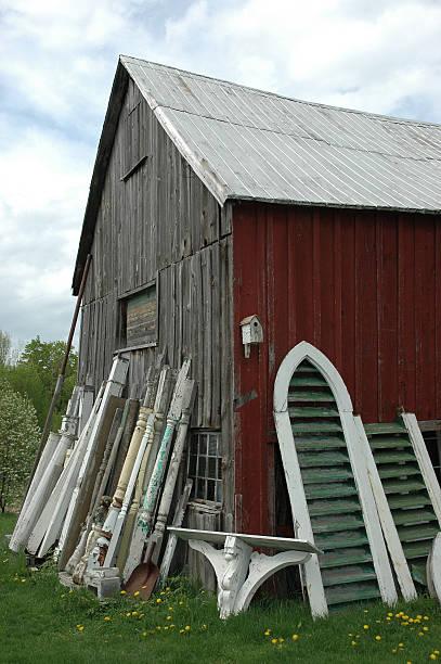 Lean on a barn stock photo