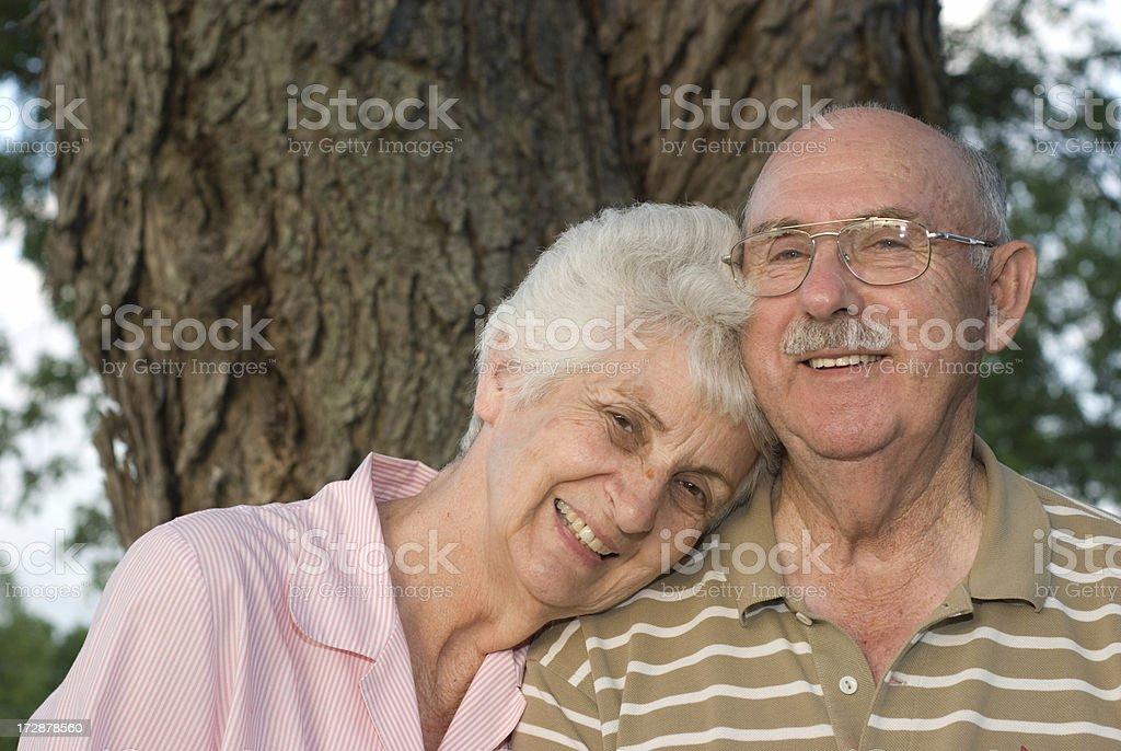 Lean On Me - Senior Couple royalty-free stock photo