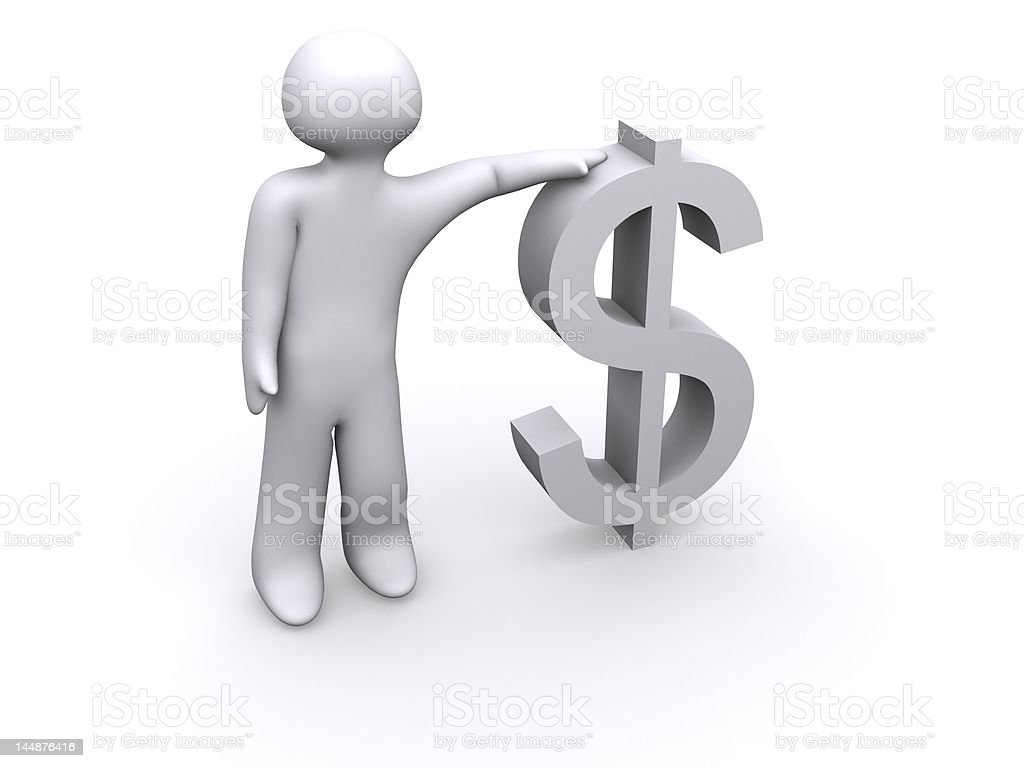 lean on the dollar royalty-free stock photo