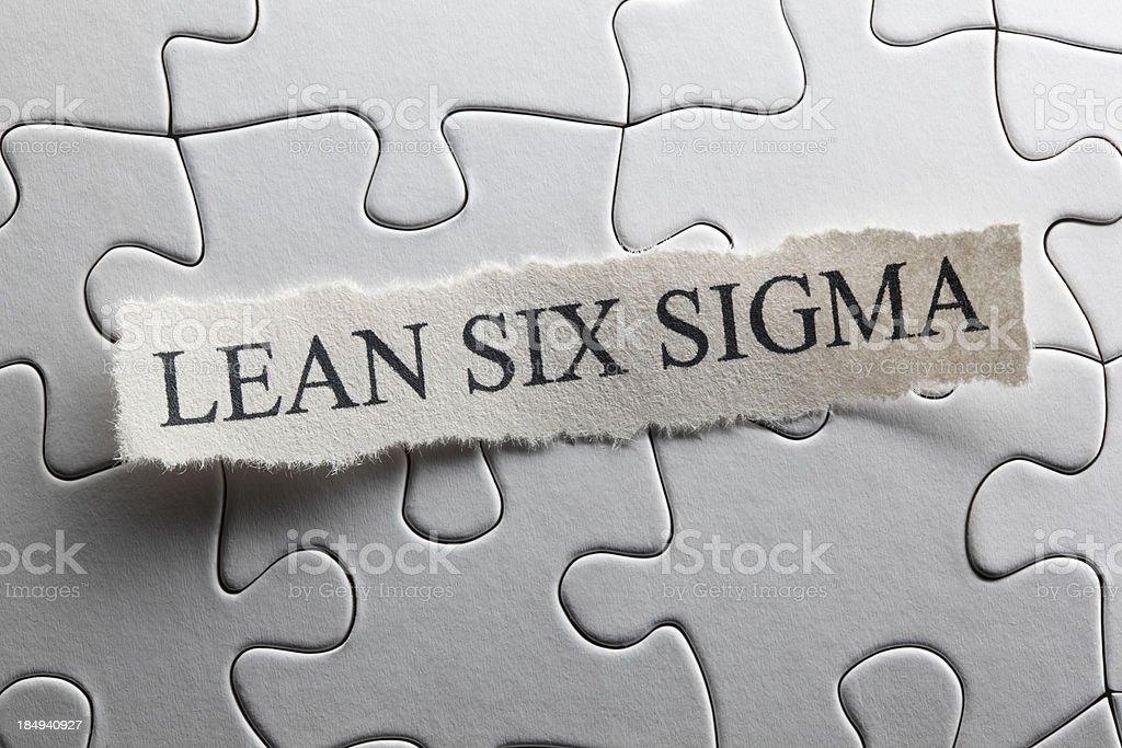 Lean Six Sigma royalty-free stock photo