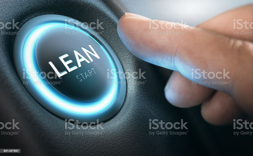 Lean Transformation and Management Concept stock photo
