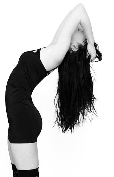 Schlanke Frau im Profil – Foto