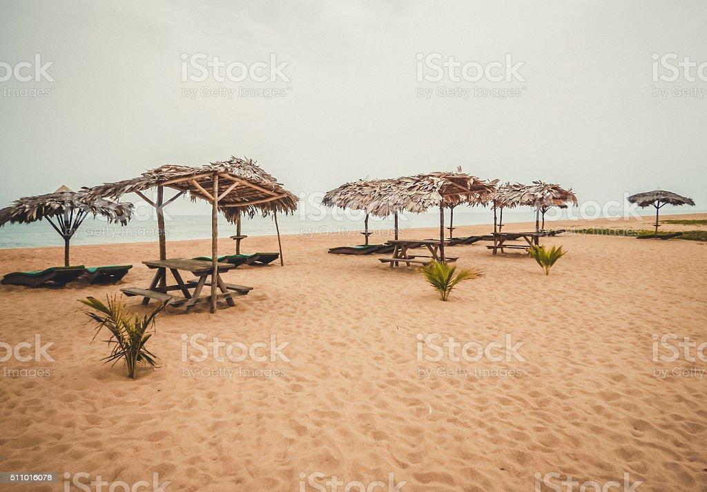 Сleanest beach on the Atlantic. Liberia, West Africa stock photo