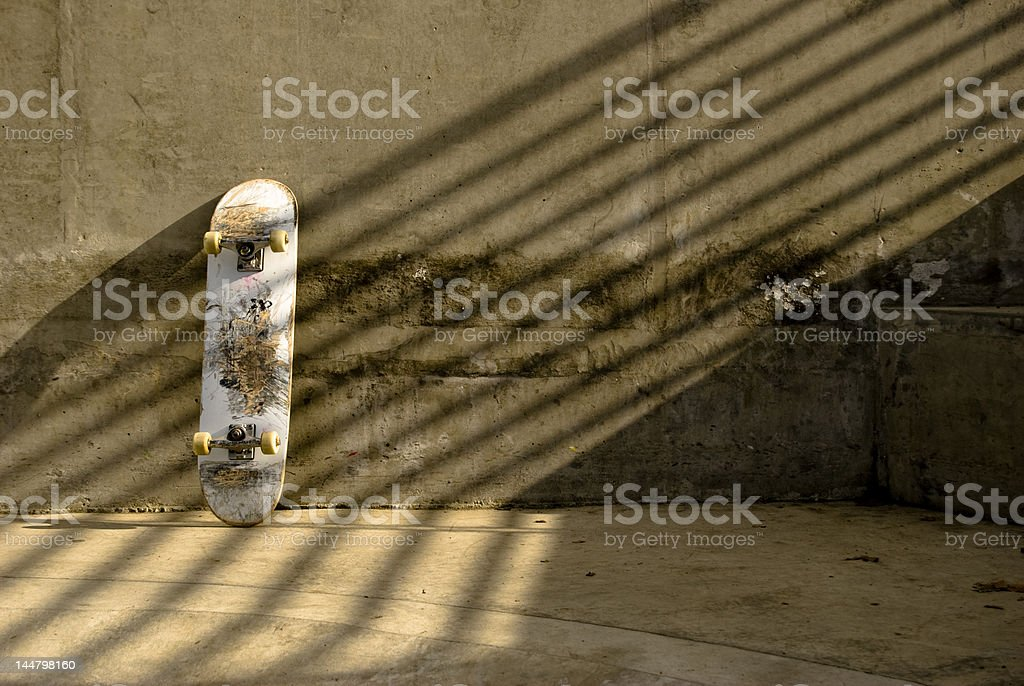 Leaning Board stock photo