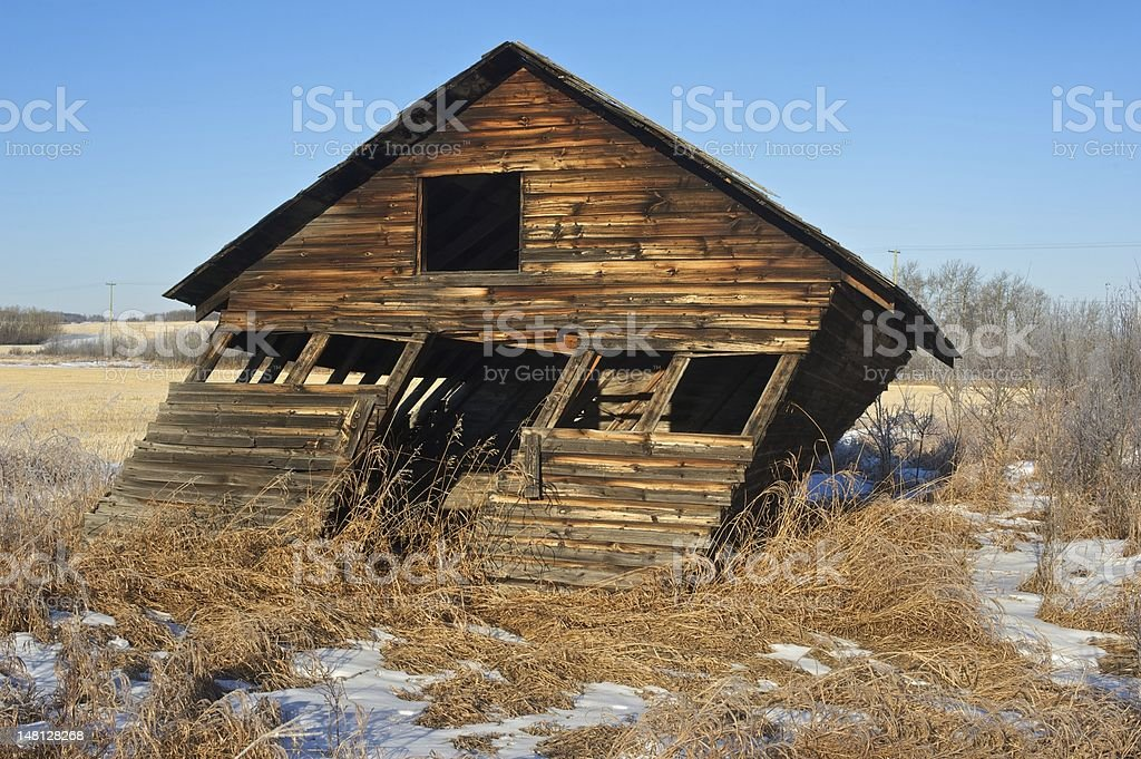 leaning old abandoned small shed or barn stock photo more pictures