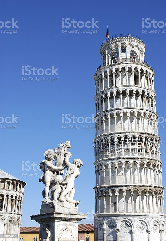 Leaning Pisa tower, Italy royalty-free stock photo