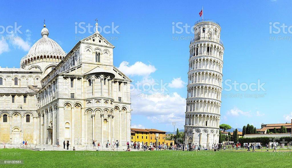 Leaning Pisa Tower stock photo