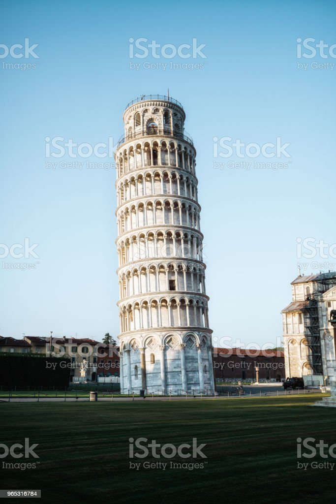 Leaning Tower of Pisa in Pisa - Italy royalty-free stock photo
