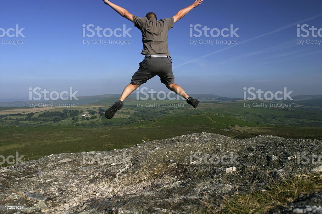 Leap of faith stock photo