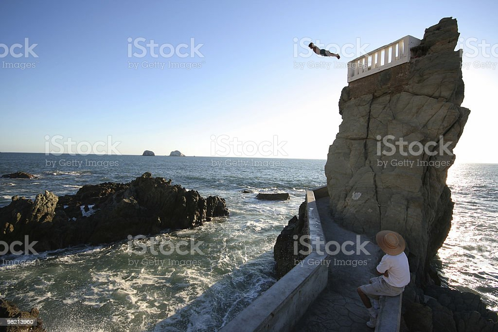 Leap of Faith royalty-free stock photo