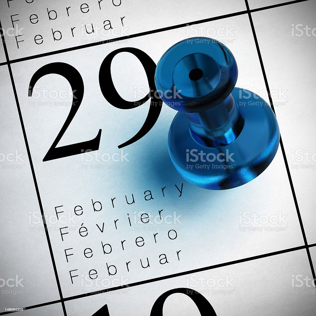leap year, february the 29th stock photo