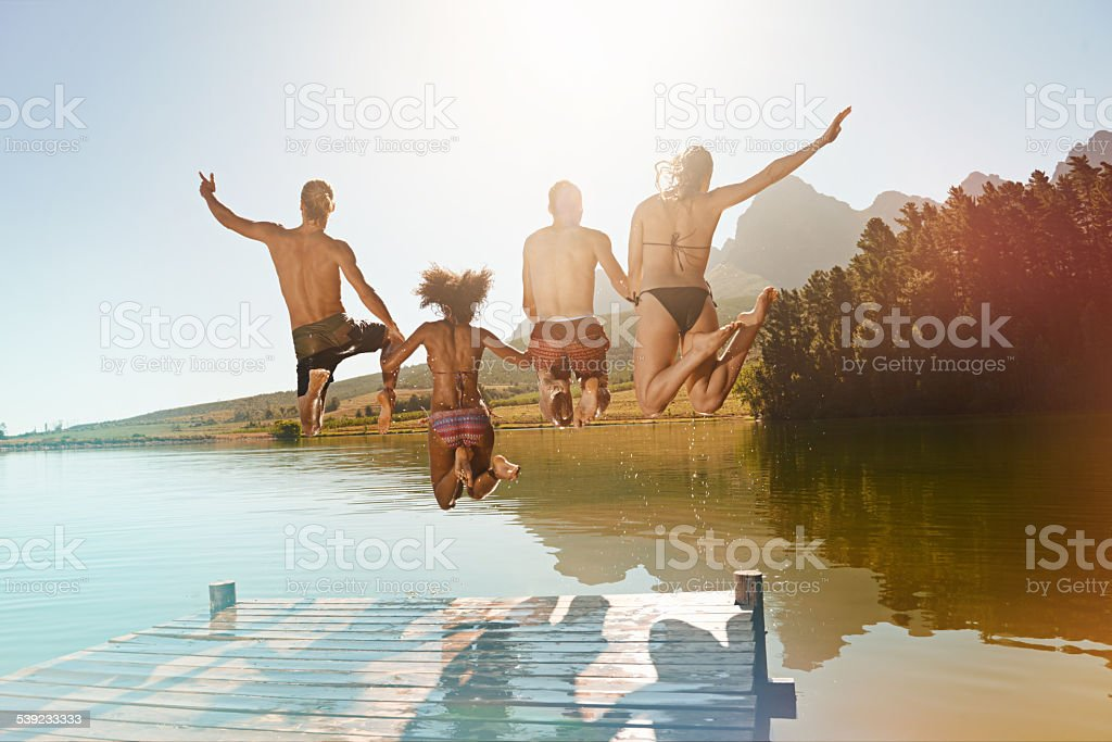 Leaping into life royalty-free stock photo
