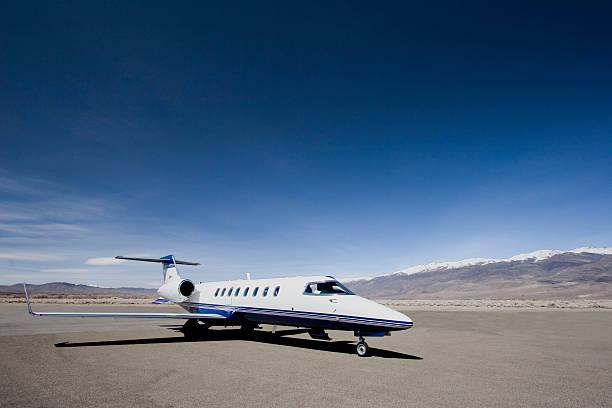 Learjet 45 stock photo