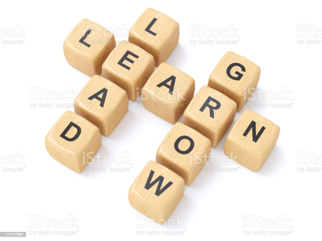 Learn and Lead crosswords royalty-free stock photo