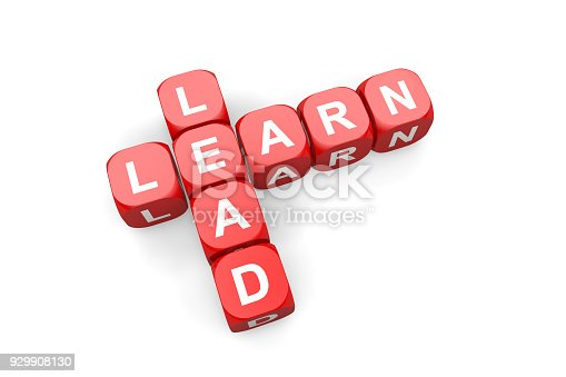 Learn,Lead,Dice,Red,Busines,White Background