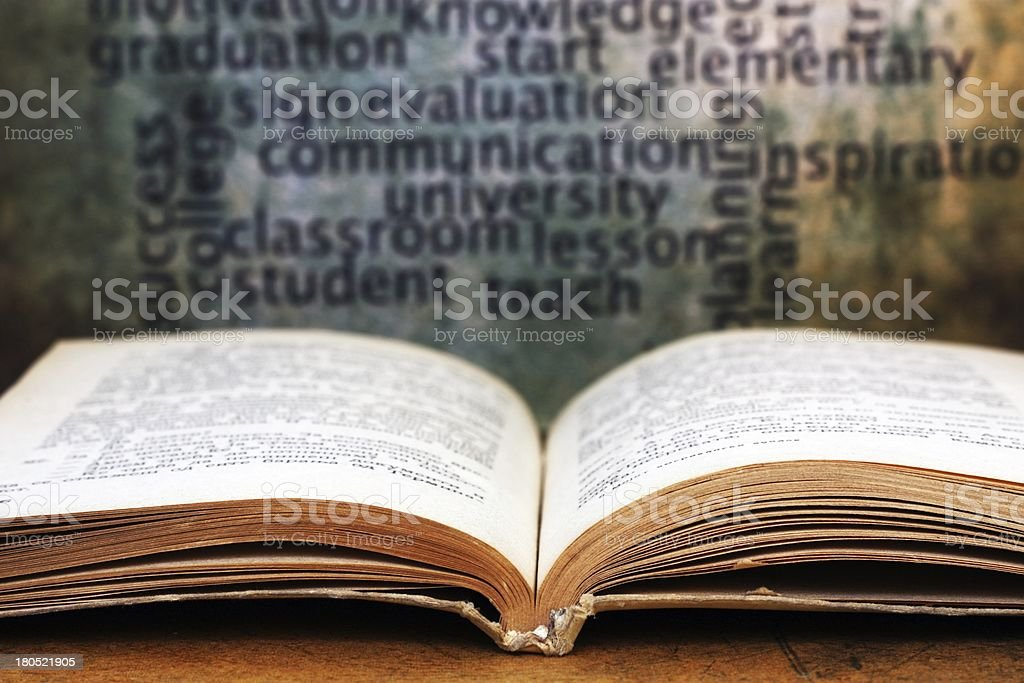 Learn concept - book stock photo