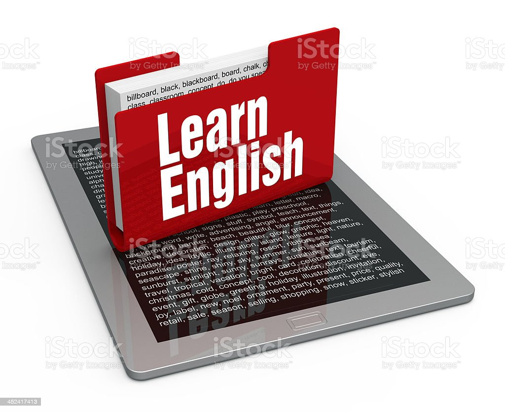 Learn english concept royalty-free stock photo