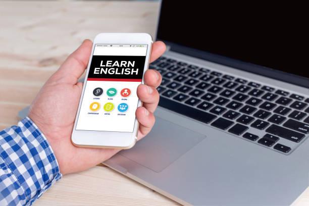lernen sie englisches-konzept - online lexikon stock-fotos und bilder