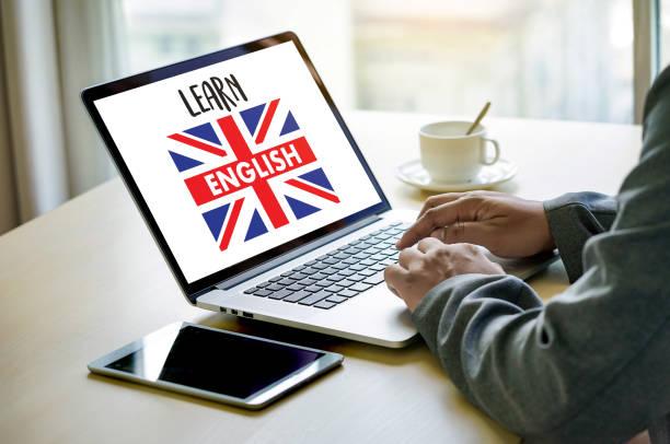 englisch (britische england sprachausbildung) lernen englischen sprache online - online lexikon stock-fotos und bilder