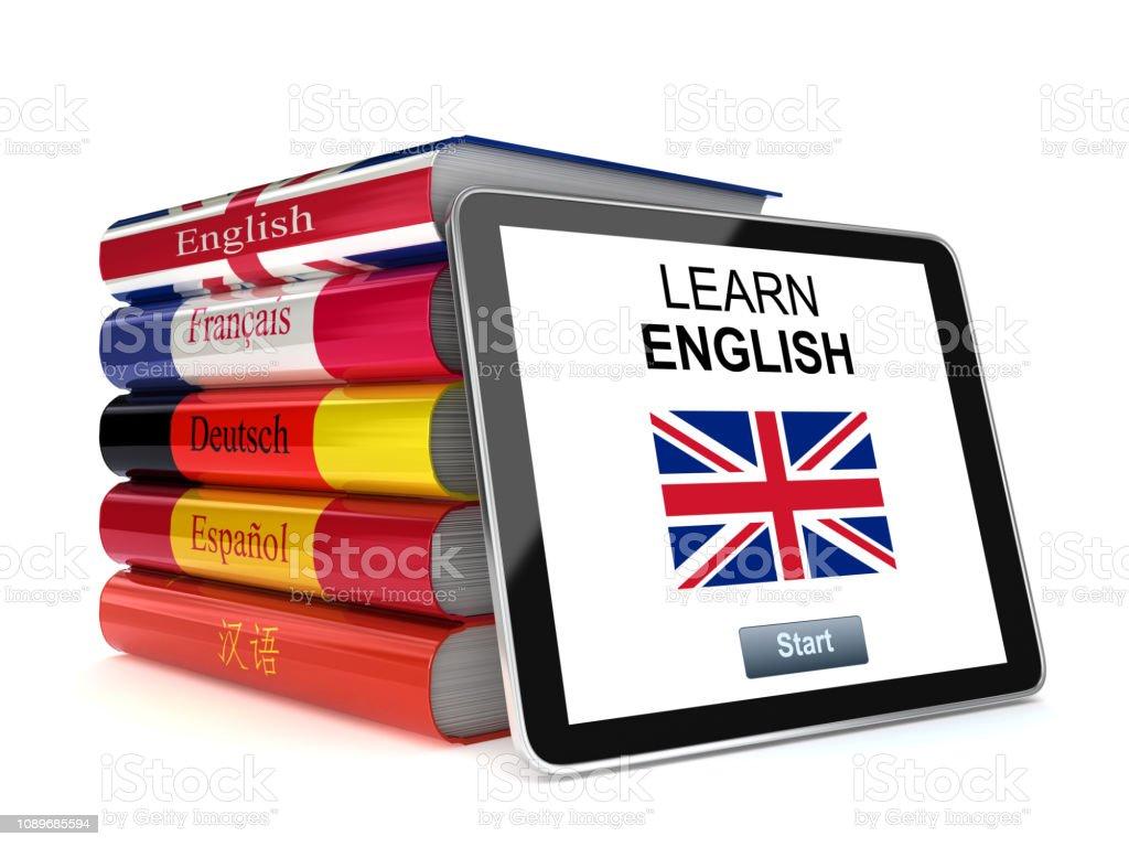 Photo Libre De Droit De Apprendre Livre Tablette Anglais