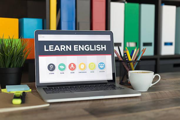 Learn English Online - foto de stock