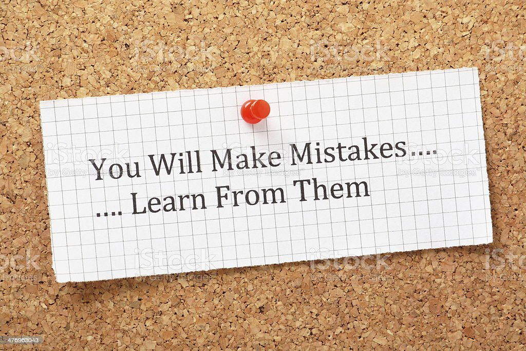 Learn From Mistakes stock photo