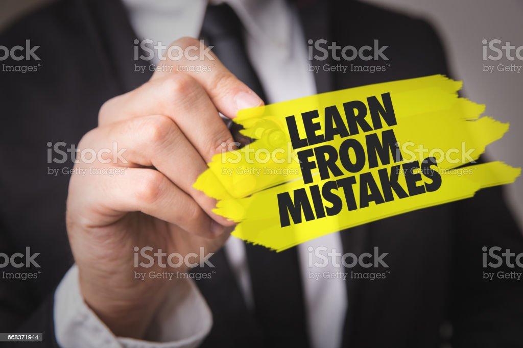 Aprender com os erros - foto de acervo