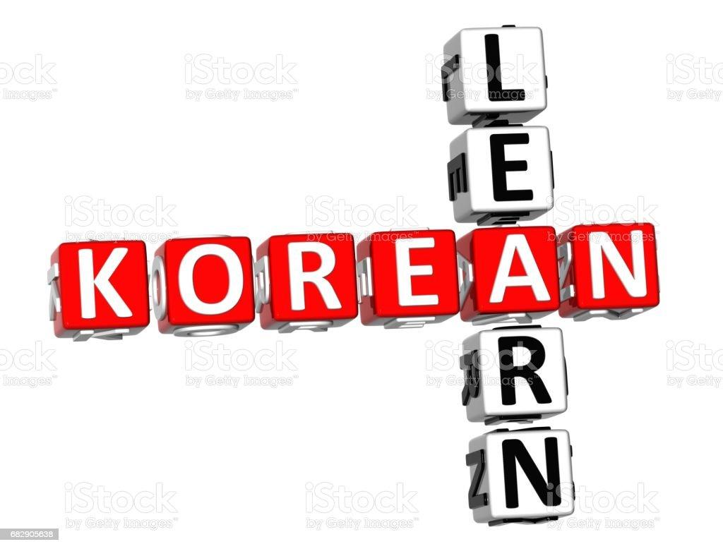 Learn Korean Crossword Stock Photo - Download Image Now - iStock