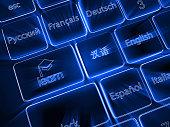 Learn language internet online distance education
