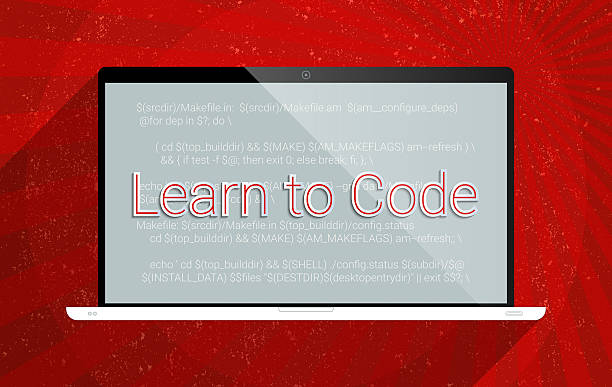 learn to code - flat design stock photos and pictures
