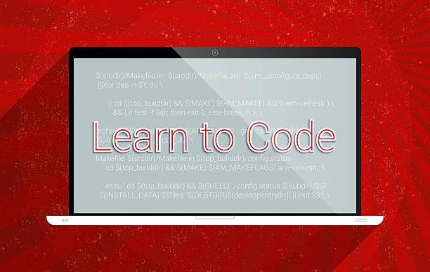 apprenez à code - design plat photos et images de collection