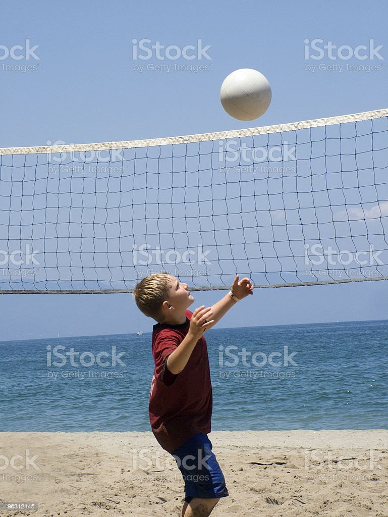 Learn to Play Beach Volleyball royalty-free stock photo