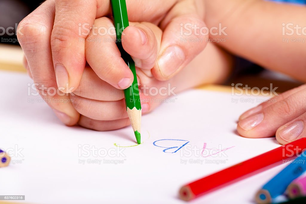 Learn to write - foto de stock