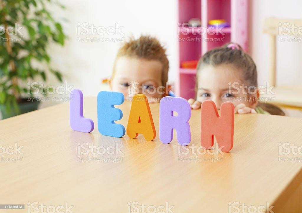 Learn word stock photo
