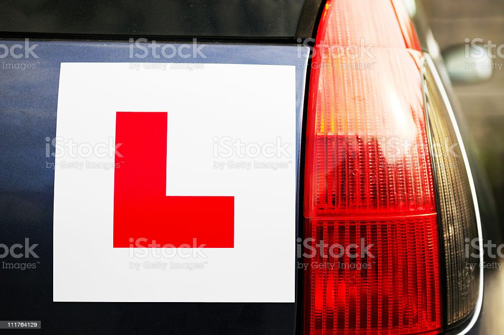 Learner Driver royalty-free stock photo