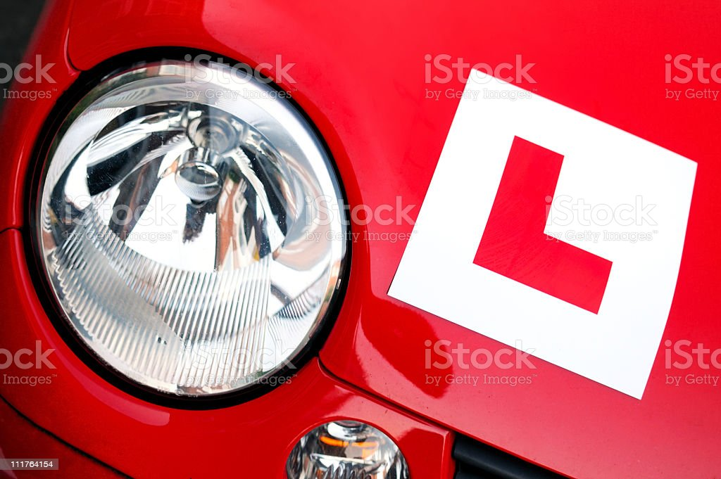 Learner Driver stock photo