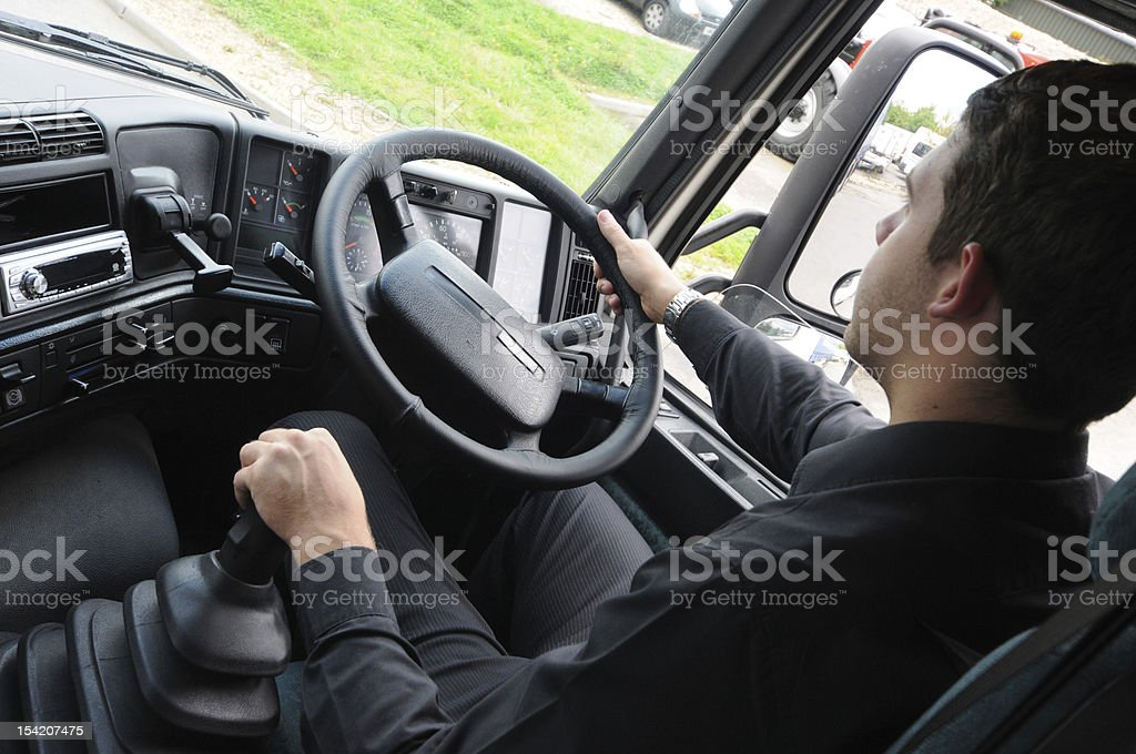 learner hgv driver training stock photo