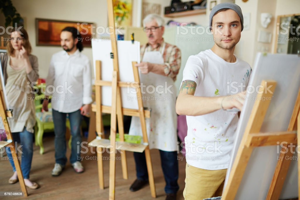 Learner of art school - foto de stock