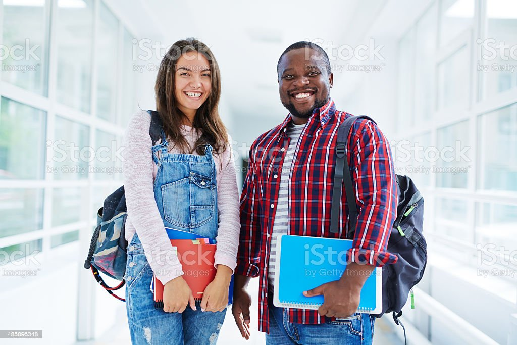 Learners of high school stock photo