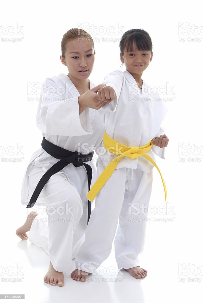Learning a martial art stock photo