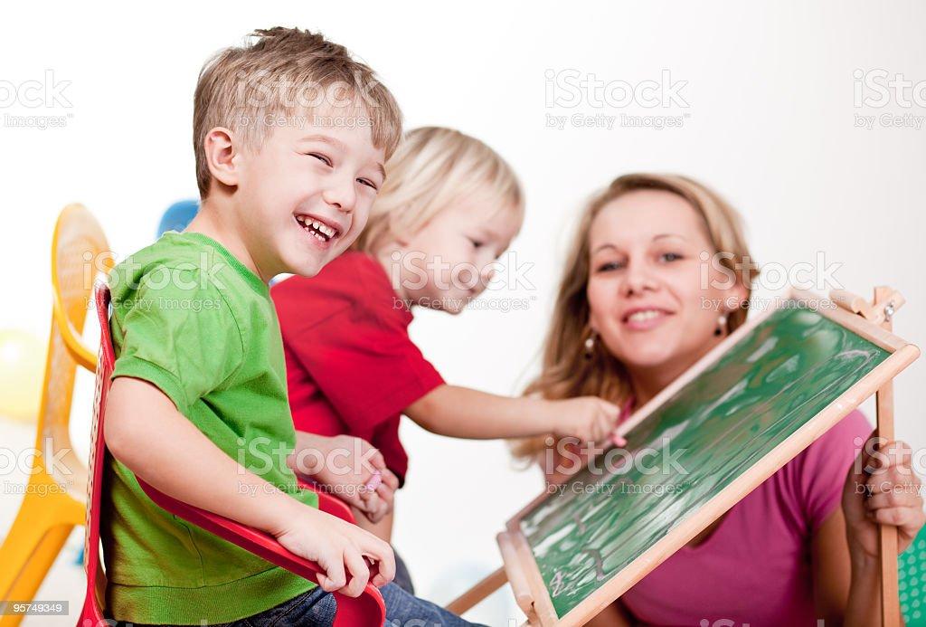 Learning abc royalty-free stock photo