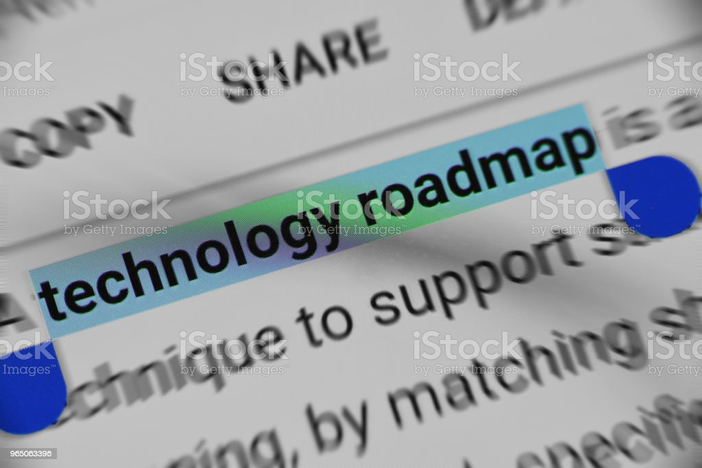 Learning about Technology Roadmap online royalty-free stock photo